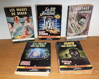 5 Anciens Livre edition fleuve Noir Anticipation Jimmy Guieu-stefan wul etc...