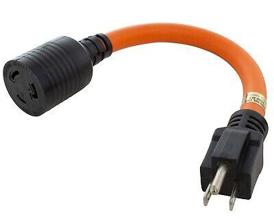"ATE /""W/"" Twist Adapter to Ground Twist To Lock Plug 24/"" 12 Gauge 20 Amp 70074"