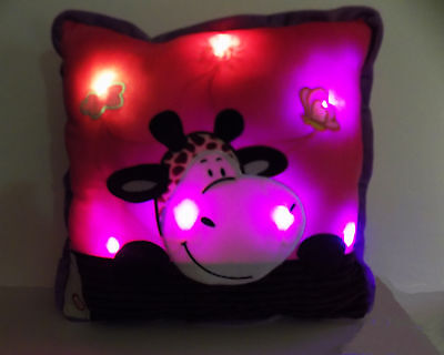 "Glowing Pillow Pets Glow Large 16"" Colorful Soft Decorative LED Light Luminous"