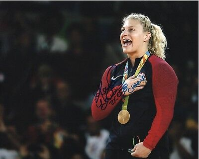 - KAYLA HARRISON SIGNED MIXED MARTIAL ARTS GOLD MEDAL 8X10