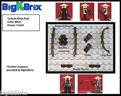 NINJAGO Samurai Custom Weapon & Accessory PACK for LEGO Minifigures Minifigs! #2 (Ninjago Custome)