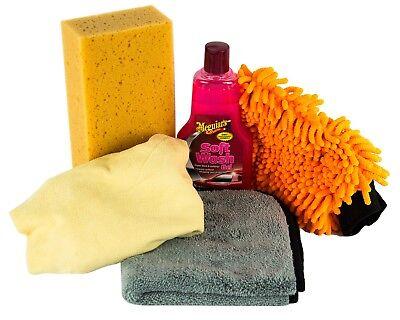 MEGUIAR'S MEGUIARS Soft Wash Shampoo & Schwamm & Waschhandschuh & Leder & Tuch