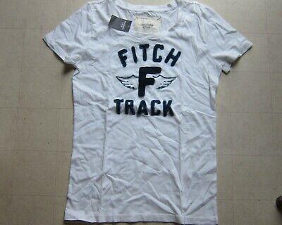 Abercrombie & Fitch Womens White T-Shirt Sz L - NWT $34