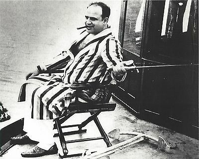Al Capone Fishing 8X10 Photo Mafia Organized Crime Mobster Mob Picture