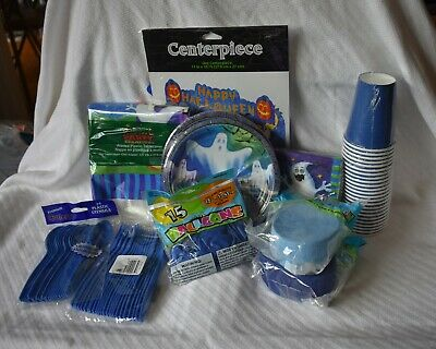 New Most Haunted Halloween (Amscan Lot of 10 Piece Party Supplies Halloween Haunted Eve Mostly Ghostly)