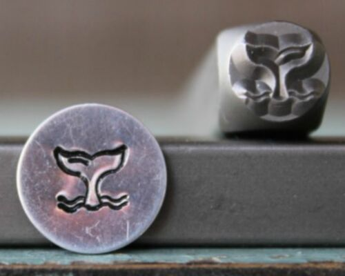 SUPPLY GUY 6mm Whale Tail Metal Punch Design Stamp SGCH-305
