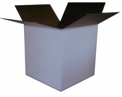 25 12x12x12 White Corrugated Boxes Shipping Packing Moving Cardboard Cartons