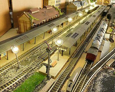 10 graue Ringlampen LED Bahnsteiglampen, ca. 65 mm hoch