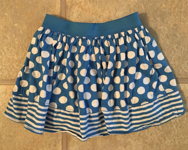 Okie Dokie Girl's Size 4T Royal & White Polka Dot Cotton Blens Skort