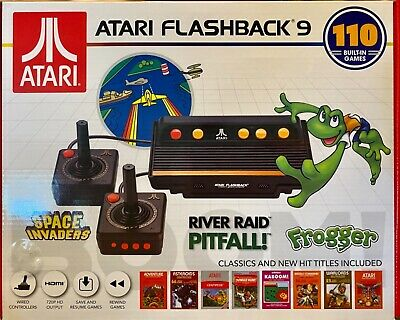 Atari Flashback 9 Plug And Play 110 Classic Games Frogger Space Invaders AWESOME