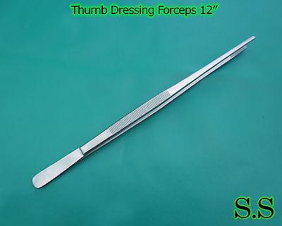 12 Pcs Thumb Dressing Forceps 12 Serrated