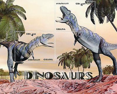 Ghana 2014 MNH Dinosaurs 2v S/S II Aucasaurus