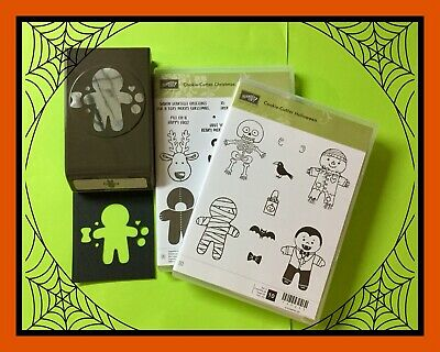Stampin' Up! COOKIE CUTTER HALLOWEEN & CHRISTMAS Stamps & PUNCH
