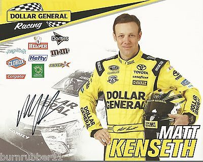 Signed 2016 Matt Kenseth  Dollar General Camry   20 Nascar Sprint Cup Postcard