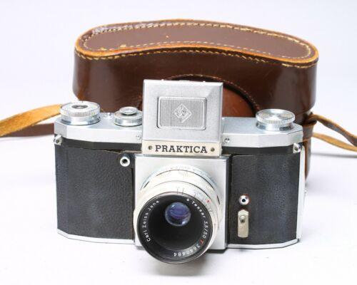 PRAKTICA 35MM FILM SLR CAMERA W/ CARL ZEISS TESSAR 50MM F/3.5 T LENS