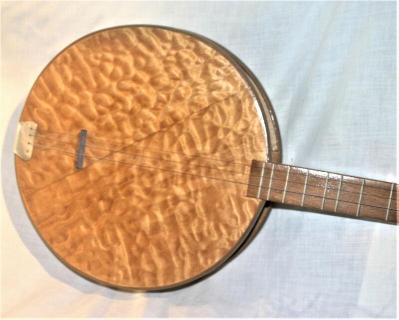 Southern Folk Art HANDMADE Wood Mountain Banjo Vintage Primitive Appalachian