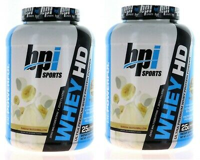 2 Pack BPI Sports Whey HD Ultra Premium Whey Protein Banana Marshmallow 9 lbs