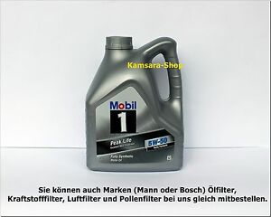 from berlin motor oil mobil 1 peak life 5w50 5w 50 4 litre. Black Bedroom Furniture Sets. Home Design Ideas