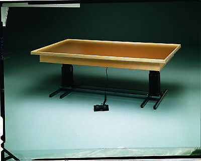 Bailey Professional Electric Hi-Lo Platform Mat Table 4' x 7', with Mat in Blue