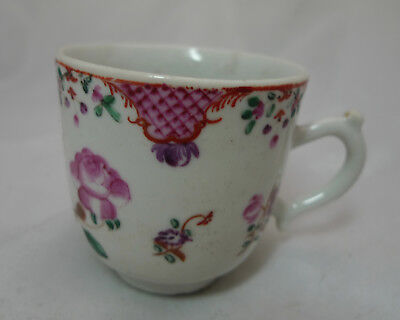 Antique Chinese Famille Rose Coffee Can A602017