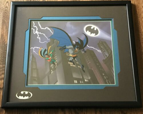 Batman Animated Series Art LOT of 4 The Dynamic Duo, Villains of Gotham 1 & 2