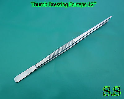 6 Thumb Dressing Forceps 12 Surgical Dental Instruments