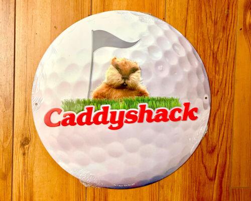 CaddyShack - Round Tin Metal Sign (Man Cave, Shop, Garage) Bushwood Club Gopher