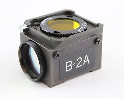 Nikon Blue B-2a Dm 510 Fluorescence Filter Cube Microscope Diaphot Optiphot