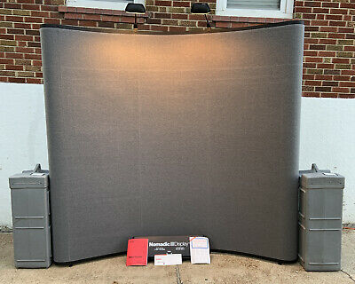 Nomadic Display 10 Trade-show Complete Pop-up Display Kit W Lighting 2 Cases