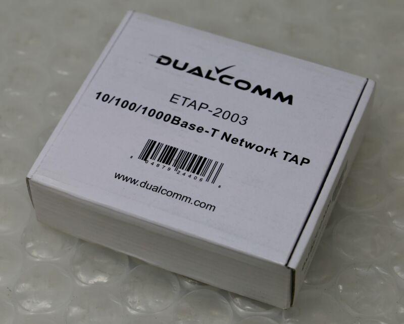 *NEW* DUALCOMM ETAP-2003 - 10/100/1000Base-T USB Powered Network TAP