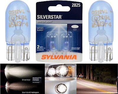 Sylvania Silverstar 2825 5W Two Bulbs License Plate Tag Light Upgrade OE Stock
