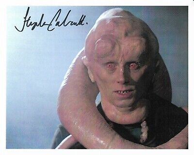 "Stephen Calcutt ""STAR WARS"" standing-in for Bib Fortuna 10x8"" Signed 22084"
