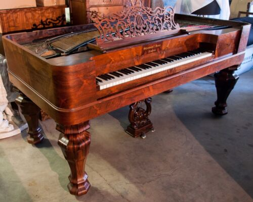 1859 Steinway Square Grand Piano, Rosewood, Restored, with Millsaps Provenance