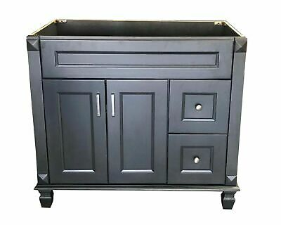 Bathroom Vanity Carbon Metallic wood SingleBase Cabinet 36