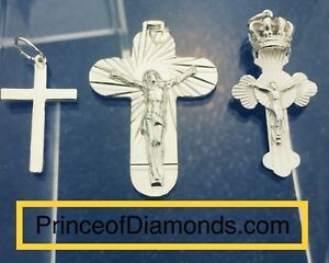 Sterling silver Jesus crosses pendant charm charms