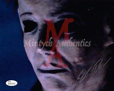 CHRIS DURAND HALLOWEEN AUTO SIGNED 8x10 PHOTO! JSA COA! MICHAEL MYERS! H20