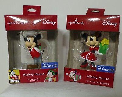 2018 Hallmark Christmas Tree Ornaments Mickey 90 Yrs & Minnie Mouse Walmart Ex. (Walmart Minnie Mouse)