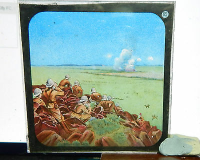 Victorian Glass Magic Lantern slide Boer War image bx1 .