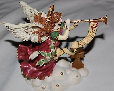 Angel Wind Up Music Box O Come All Ye Faithful Michael Adams Christmas Trumpet