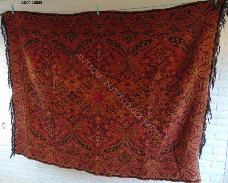 FOLKLORE DUTCH PAISLEY SHAWL DESIGN OR BIETKLEED TABLE CLOTH 172 BY 136 CM