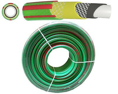 50m Heavy Duty Professional Reinforced Garden Hose Pipe 6 Layers Kink resistant