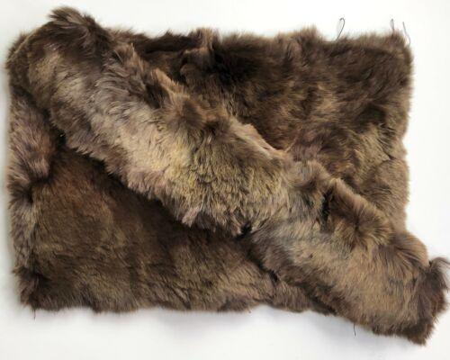 Antique TRUE Vintage Rabbit Fur Collar &Bonus BEAUTIFUL Brown Womens 20s 30s 40s