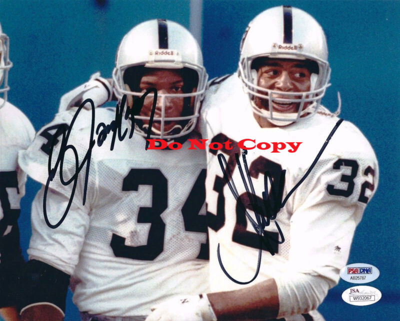 Bo Jackson And Marcus Allen Signed Autographed 8X10 Photograph Photo Reprint