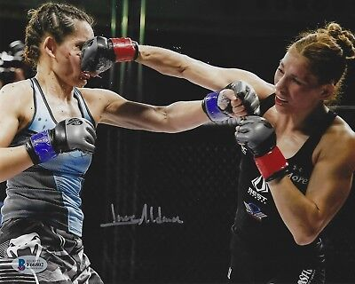 Irene Aldana Signed UFC 8x10 Photo BAS Beckett COA Invicta FC 19 Faith Van Duin