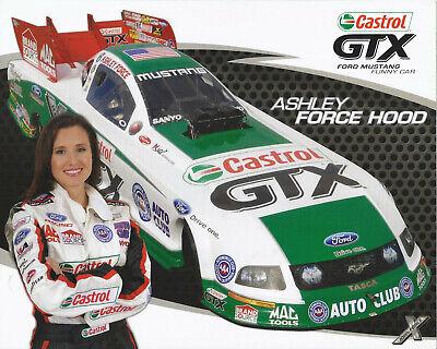 ☆ASHLEY FORCE HOOD ☆ 2009 ☞CASTROL-John Force NHRA Drag Racing FUNNY CAR -