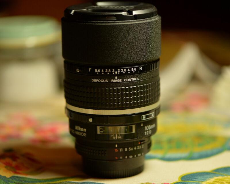 Nikon DC-NIKKOR 105mm f/2 D RF AF M/A Lens