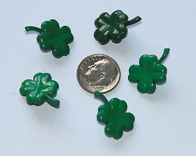 5 Shamrock St Patrick's Day Buttons / 4 Leaf Shamrock / Jesse James Dress It Up - St Patrick's Day Dress