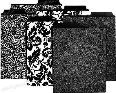 Martha Stewart Avery File Folders Decor Vertical Letter-size Black 3 Patterns 6