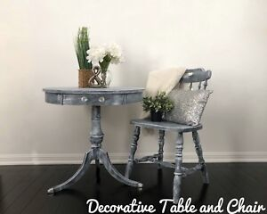 Decorative table and chair