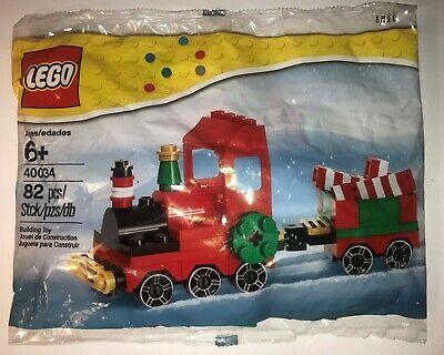 LEGO 40034 Seasonal CHRISTMAS TRAIN set build for holiday